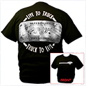 CSM Road Rash Lic. plate shirt, black, short sleeve - Large