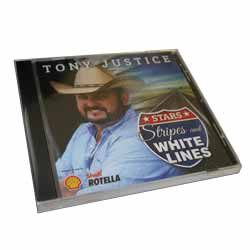 Tony Justice CD - Stars Strips And White Lines