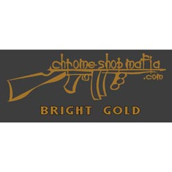 Chrome Shop Mafia Decal 7 Inch Gold