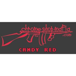 Chrome Shop Mafia Decal 7 Inch Candy Red