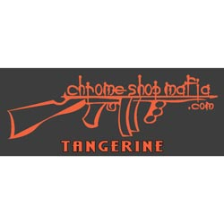 Chrome Shop Mafia Decal 7 Inch Tangerine