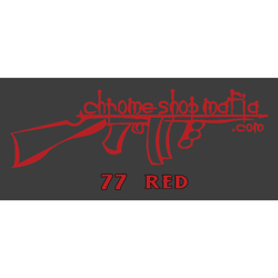 Chrome Shop Mafia Decal 10 Inch Red