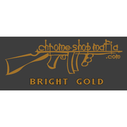 Chrome Shop Mafia Decal 10 Inch Bright Gold