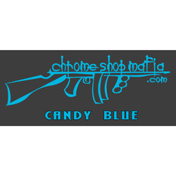 Chrome Shop Mafia Decal 10 Inch Candy Blue