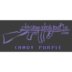 Chrome Shop Mafia Decal 10 Inch Candy Purple