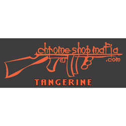 Chrome Shop Mafia Decal 10 Inch Tangerine