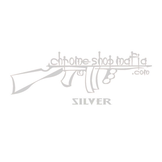 Chrome Shop Mafia 10 Inch Silver Colored Decal Vinyl