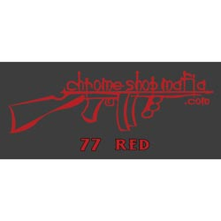 Chrome Shop Mafia Decal 15 Inch Red