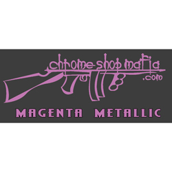 Chrome Shop Mafia Decal 15 Inch Magenta Metallic