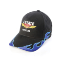 4 State Trucks Hat w/ Flames - Black