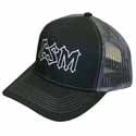 Chrome Shop Mafia Hat With Mesh Back - Black & Gray Adjustable