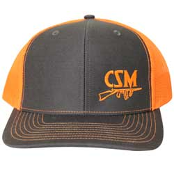 CSM Black & Orange Mesh Back Hat