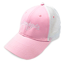 Pink And White CSM mesh back hat