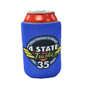 Blue Can Koozie With Chrome Shop Mafia & 4 State Trucks Logos