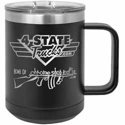 15 Oz. 4 State Trucks / Chrome Shop Mafia Coffee Mug With Handle - Black
