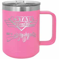 15 Oz. 4 State Trucks / Chrome Shop Mafia Coffee Mug With Handle - Pink