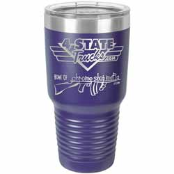 30 Oz. 4 State Trucks / Chrome Shop Mafia Coffee Tumbler - Purple