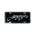 Polished Aluminum Embossed Chrome Shop Mafia Tommy Gun Logo License Plate