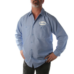 CSM Blue Workshirt with Blue Badge
