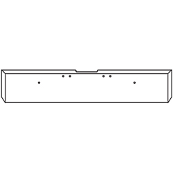 18 Inch 7 GA Chrome-Plated Steel Boxed End Bumper With Mounting Holes Fits Freightliner Classic XL Day Cab 2004-2007