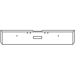 18 Inch 7 GA Chrome-Plated Steel Boxed End Bumper With Tow Hole Fits Freightliner Classic XL Day Cab 2004-2007