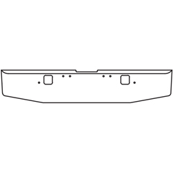16 Inch 7 GA Chrome-Plated Steel Std Tapered End Bumper With Step Holes Fits Freightliner Classic XL Day Cab 2004-2007