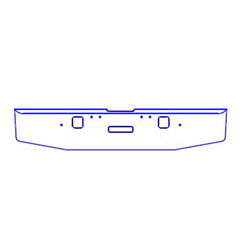 "Freightliner Classic Bumper 18"" Texas Rolled End With Hook & Tow Holes - Day Cab"