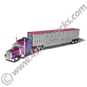 1:64 Earl Peterson Kersplatt Peterbilt 379 with 63 In Flat Top Sleeper with Wilson Livestock Trailer