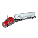 1:64 Girton Peterbilt with 63 In Flat Top Sleeper with Propane Tanker Trailer