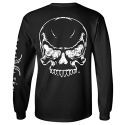 Diesel Life Black Long Sleeve Skeleton T-shirt Size Large