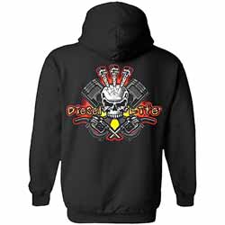 Diesel Life Black Skeleton Logo Hoodie - Small