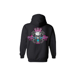 Diesel Life Ladies Black & Pink Hoodie Size Small