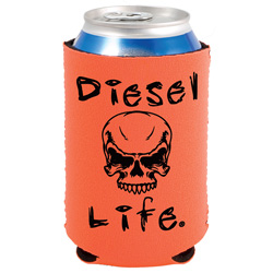 Diesel Life Orange & Black Can Koozie