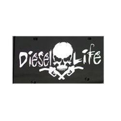 Diesel Life Black & White License Plate