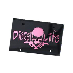 Diesel Life Black/Pink License Plate