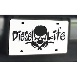 Diesel Life Chrome & Black License Plate