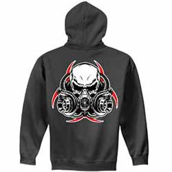 Diesel Life Gas Mask Charcoal Hoodie - Medium