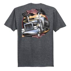 Diesel Life Black Heather Turn And Burn T-Shirt - Small