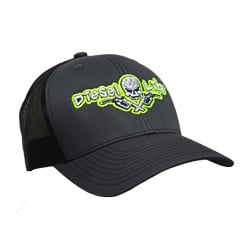 Diesel Life Neon Yellow & Charcoal Black Snap Back Hat