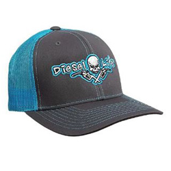 Diesel Life Neon Blue & Charcoal Snap Back Hat
