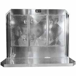 Diamond Aluminum 68 X 86 X14 Inch Cab Rack With 3 Door Storage & 2 Inch Drop Deck
