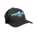 Diesel Life Twill Mesh Charcoal Black Snap Back Hat