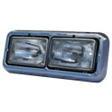 Dual Square Headlight Assembly With Chrome Bezel Passenger Side
