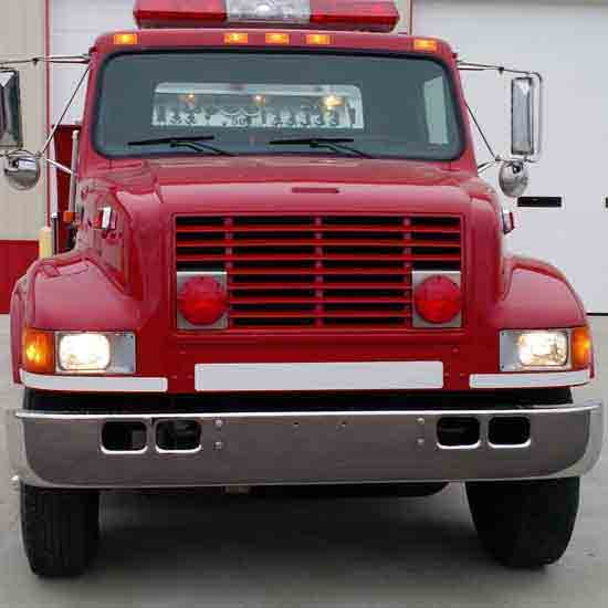 Headlight Bezel Chrome Driver and Passenger Side Fit: International 9400 9200 8100 8200 8300 4900 4700 4800 Trucks