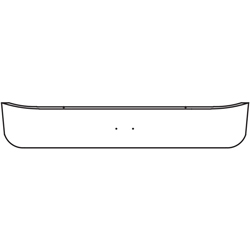 14 Inch Chrome Factory Style Bumper With Bolt Holes Fits International 5000, 7000 & 8000