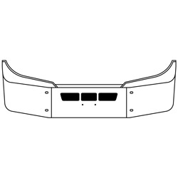 16 Inch Chrome Bumper With Vent Holes Fits International LT625