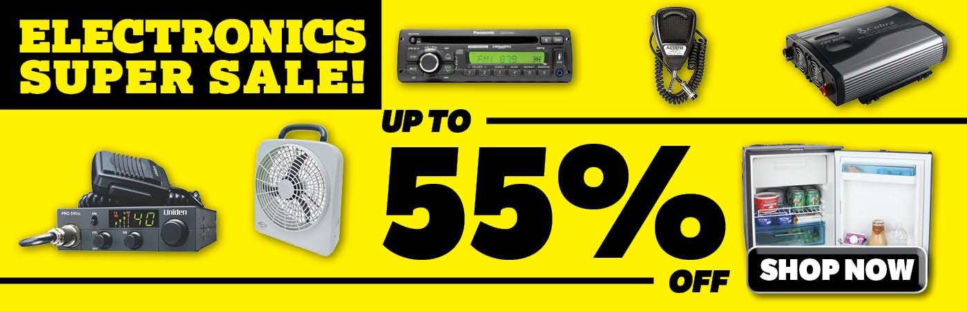 Save up to 55% on Electronics!