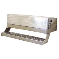 Battery Box w/ Diamond Plate Lid for Freightliner - 43in