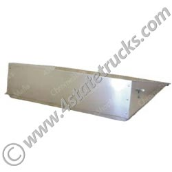 Battery Box Cover-Smooth Aluminum for Freightliner-43in