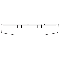 16 Inch Chrome Tapered Bumper Fits Freightliner FLC120, FLT